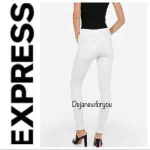 EXPRESS WHITE HIGH RISE LEGGING JEANS SIZE 4